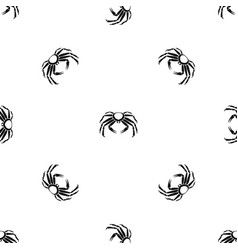 Snow crab pattern seamless black vector