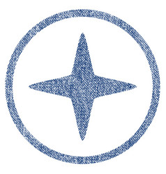 Sparkle star rounded fabric textured icon vector