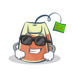 Super cool tea bag character cartoon vector