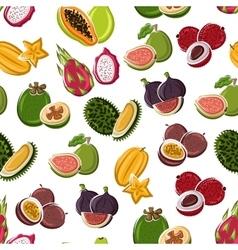 Tropical dessert fruits seamless pattern vector