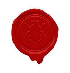 Wax seal design vector