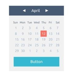 Website Element Calendar Button vector image vector image