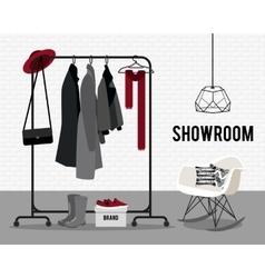 With showroom vector