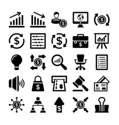 Banking and finance line icons 8 vector