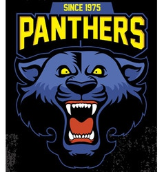 Retro panther mascot design vector