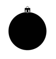 New years sphere christmas ball black color icon vector