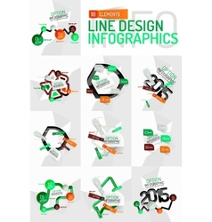 Colorful fresh sticker infographics vector