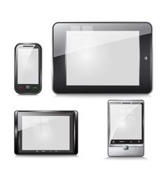 Set of electronic devices tablet and mobile phone vector