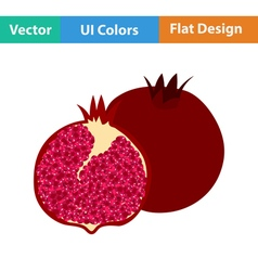 Flat design icon of pomegranate vector
