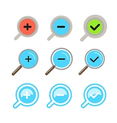 Different zoom color icons set design elements vector
