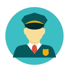 Policeman officer flat icon vector