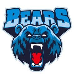 angry bear head mascot vector image