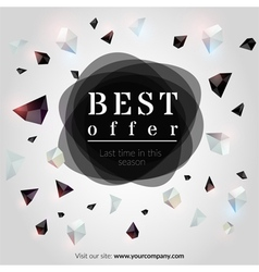 Best offer banner vector