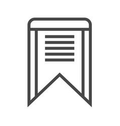 Bookmark thin line icon vector