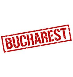 Bucharest red square stamp vector