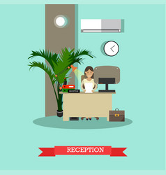 car shop reception concept in vector image vector image