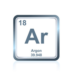 Chemical element argon from the periodic table vector