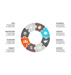 circle puzzle infographic cycle diagram vector image vector image