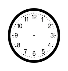 Clock face blank isolated on white background vector