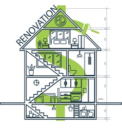 Concept of house remodeling infographic vector image vector image