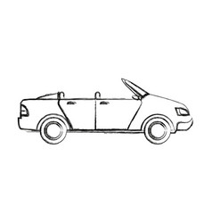 convertible car sport vehicle transport vector image