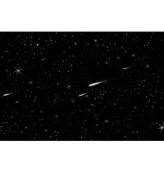Cosmic space sky with stars background vector image vector image