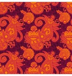 digital drawing ornate seamless flower paisley vector image vector image