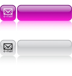 E-mail square button vector image vector image