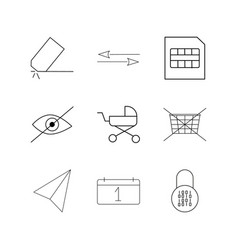 Essential linear icon set simple outline icons vector
