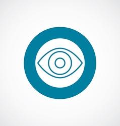 eye icon bold blue circle border vector image