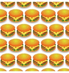 Fast Food Pattern Fresh Hamburger Background vector image vector image