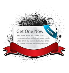 glossy banner with grunge vector image