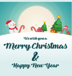 greeting card of christmas theme vector image