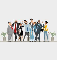 happy business team vector image