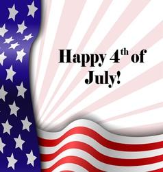 July 4 patriotic text frame vector