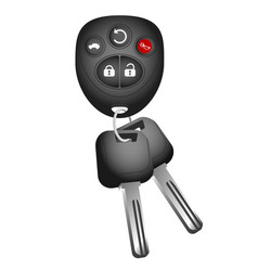 Key and key ring to the car vector