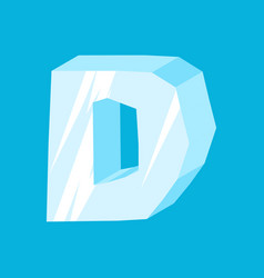 Letter d ice font icicles alphabet freeze vector