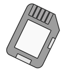 Microsd flash memory vector