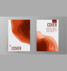 modern brochure design cover book minimal vector image