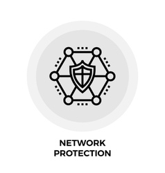 Network Protection Line Icon vector image