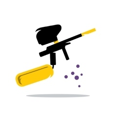 Paintball Gun Cartoon vector image
