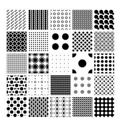 Peas circles and polka dots pattern set vector image