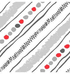 Seamless diagonal pattern vector image vector image