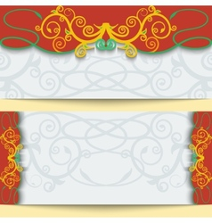 Set of greeting cards or invitations in east style vector image