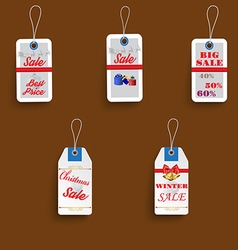 set of three sale Christmas labels vector image
