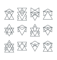 Set of trendy geometric icons Geometric hipster vector image