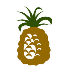 simple pineapple icon vector image vector image