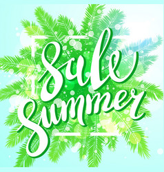 Sunset on the beach summer sale background with vector