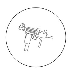 uzi weapon icon outline single weapon icon from vector image vector image
