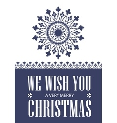 We wish you a very Merry Christmas Greeting card vector image vector image